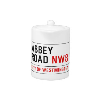 Abbey Road Street Sign Teapot