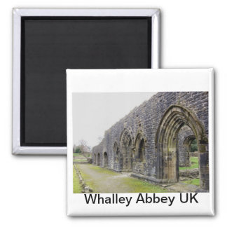 Abbey ruins 2 inch square magnet