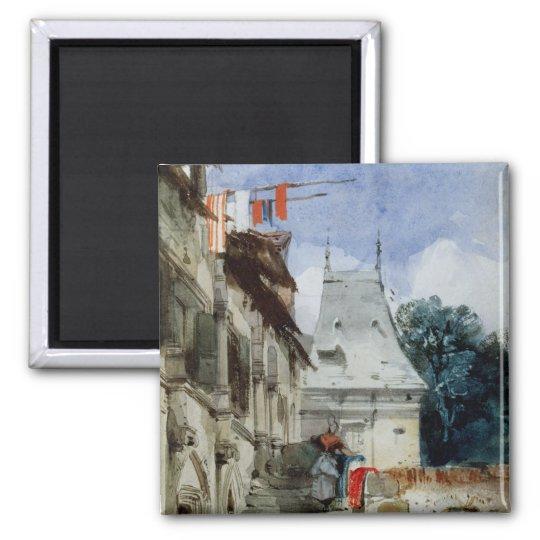 Abbey St-Amand, Rouen (w/c, bodycolour and pencil Magnet