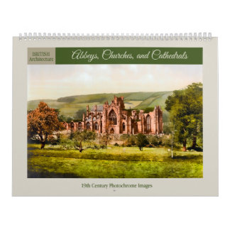 Abbeys, Churches, and Cathedrals 2018 Calendar