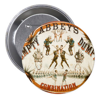 Abbey's Humpty Dumpty Combination Circus Poster Button