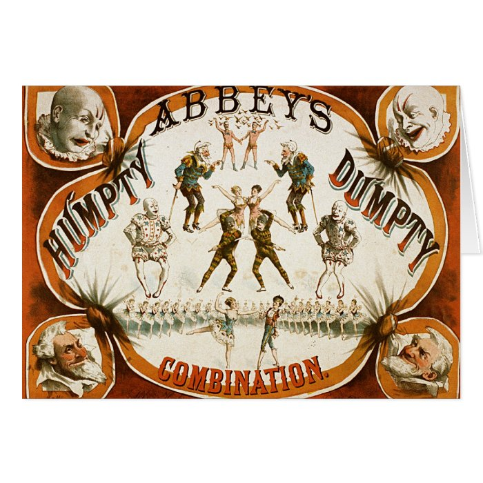 Abbey's Humpty Dumpty Combination Circus Poster Card