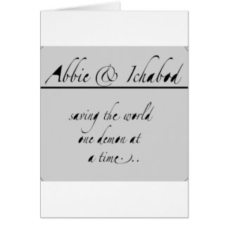 Abbie and Ichabod Greeting Cards