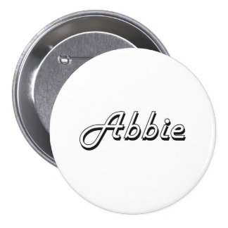 Abbie Classic Retro Name Design 3 Inch Round Button