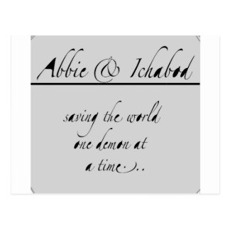 Abbie e Ichabod Tarjeta Postal