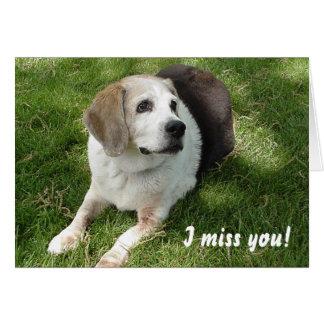 Abbie I miss you! Blank Card