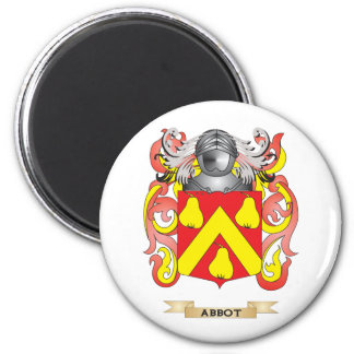 Abbot Coat of Arms (Family Crest) 2 Inch Round Magnet