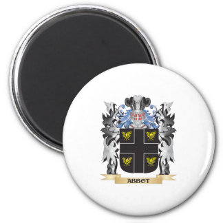 Abbot Coat of Arms - Family Crest 2 Inch Round Magnet