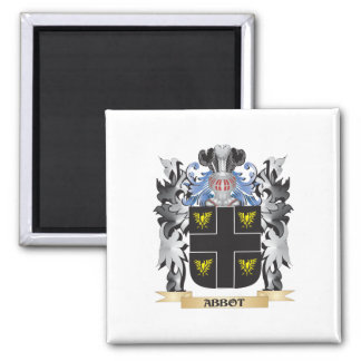 Abbot Coat of Arms - Family Crest 2 Inch Square Magnet