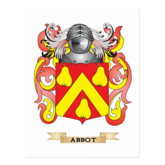 Abbot Coat of Arms (Family Crest) Postcard