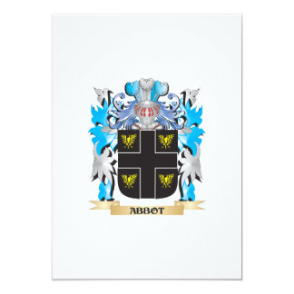 """Abbot Coat Of Arms 5"""" X 7"""" Invitation Card"""
