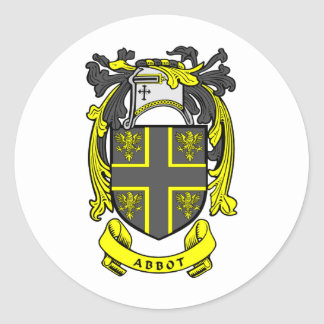 Abbot Crest Classic Round Sticker