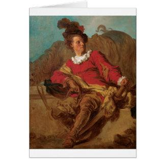 Abbot Dressed as Spaniard by Fragonard Cards