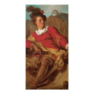 Abbot Dressed as Spaniard by Fragonard Card