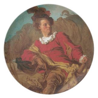 Abbot Dressed as Spaniard by Fragonard Dinner Plate
