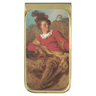 Abbot Dressed as Spaniard by Fragonard Gold Finish Money Clip
