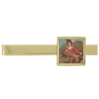 Abbot Dressed as Spaniard by Fragonard Gold Finish Tie Clip