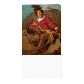 Abbot Dressed as Spaniard by Fragonard Shipping Label