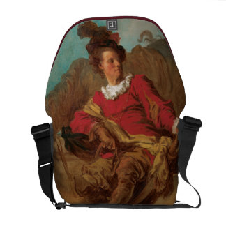 Abbot Dressed as Spaniard by Fragonard Messenger Bags
