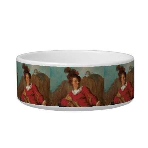 Abbot Dressed as Spaniard by Fragonard Cat Water Bowls