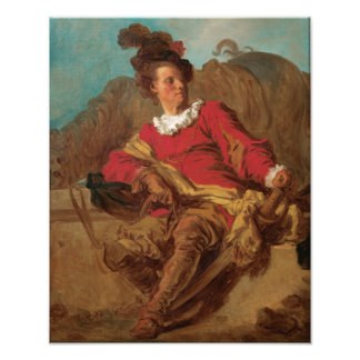 Abbot Dressed as Spaniard by Fragonard Photographic Print