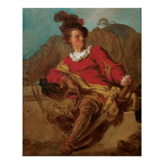 Abbot Dressed as Spaniard by Fragonard Poster