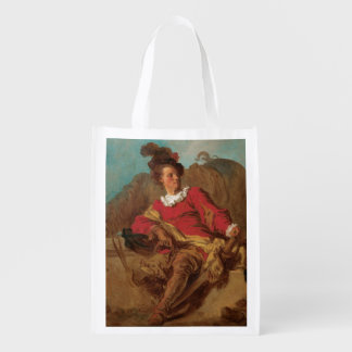 Abbot Dressed as Spaniard by Fragonard Reusable Grocery Bag