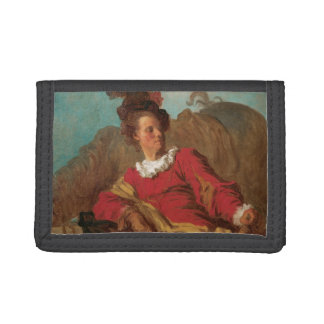 Abbot Dressed as Spaniard by Fragonard Trifold Wallets