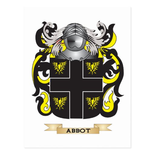 Abbot-(English) Coat of Arms (Family Crest) Postcard