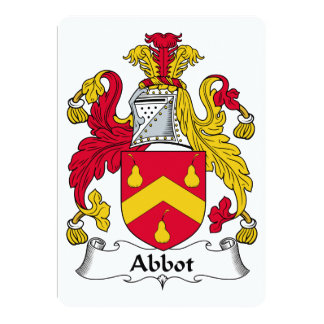 "Abbot Family Crest 5"" X 7"" Invitation Card"