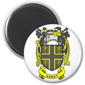ABBOT Family Crest 2 Inch Round Magnet