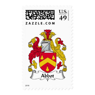 Abbot Family Crest Postage Stamps