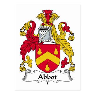 Abbot Family Crest Postcard