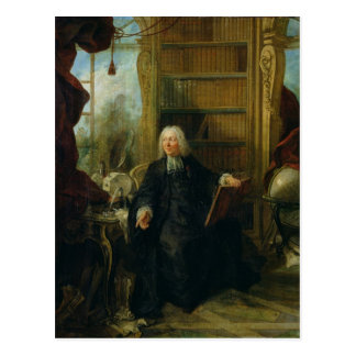 Abbot Nollet  in his study, in chateau Postcard
