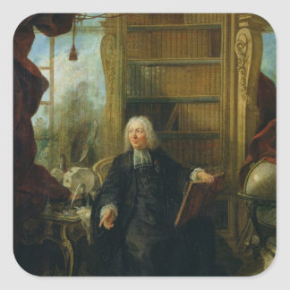 Abbot Nollet  in his study, in chateau Square Sticker