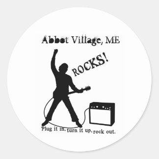 Abbot Village, ME Classic Round Sticker