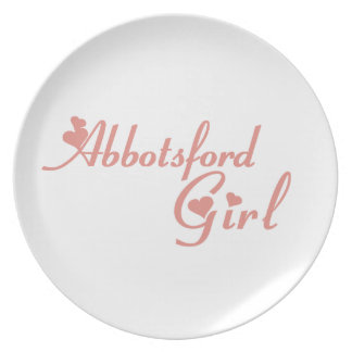 Abbotsford Girl Melamine Plate