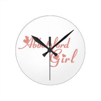 Abbotsford Girl Round Clock