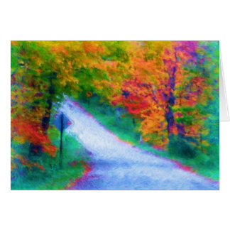 abbotsford road in autumn card