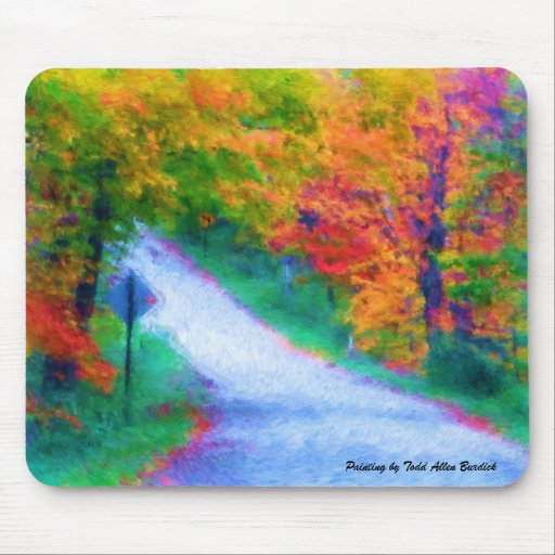 abbotsford road in autumn, mouse pad