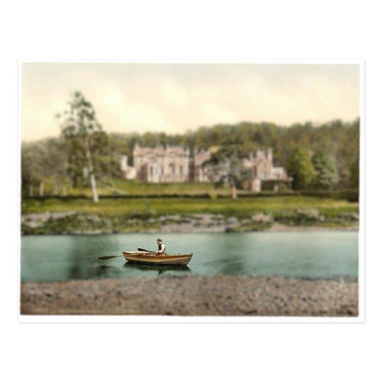 Abbotsford Scotland River Scene Miniature Postcard