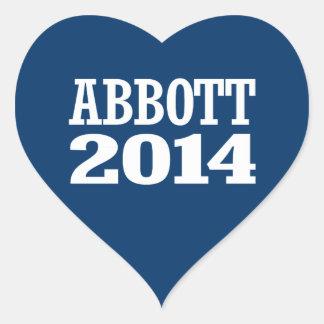ABBOTT 2014 HEART STICKERS