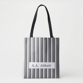 Abbott Black White Stripe Tote Bag