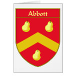 Abbott Coat of Arms/Family Crest Cards