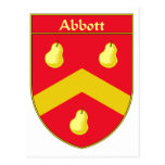 Abbott Coat of Arms/Family Crest Postcard