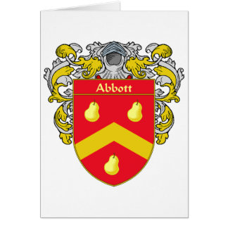 Abbott Coat of Arms (Mantled) Card