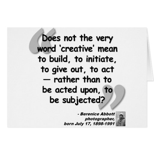 Abbott Creative Quote.png Greeting Card