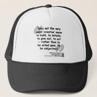 Abbott Creative Quote.png Trucker Hat
