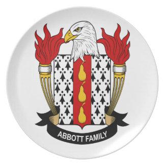 Abbott Family Coat of Arms Melamine Plate