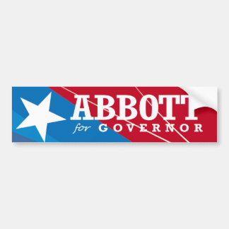ABBOTT FOR GOVERNOR 2014 BUMPER STICKER